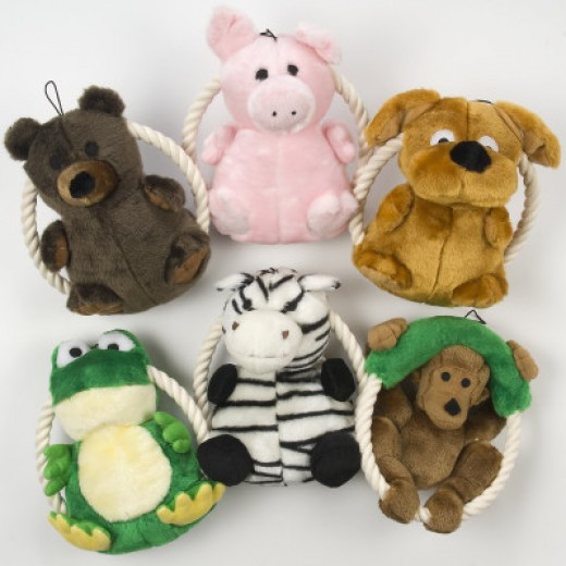 ToyShoppe Plush Rope Ring Dog Toys $6.99