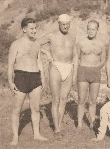 Credit: Christian Montone @ flickr -- Old fashioned sexiness, compliments of Speedo and the daring fellow in the middle.