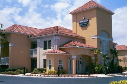 Typical Homestead Suites extended stay hotel.