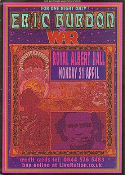 Reunion flyer for Eric Burdon and War in 2008