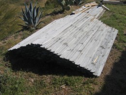 We recycled the slats from our old fence to make the garden boxes.