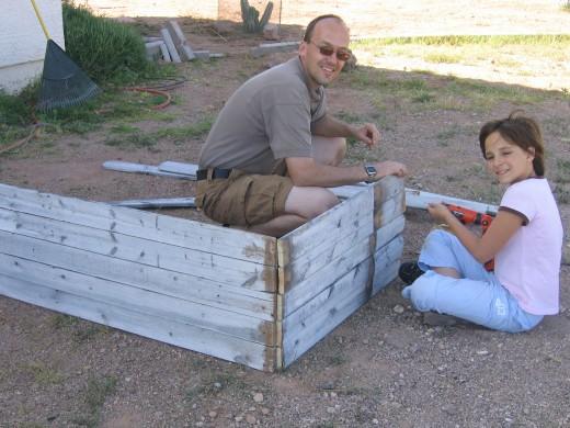 My ten-year old enjoyed helping her dad.