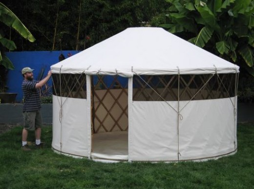 This is what the traditional yurt appears like, but this one is made of modern materials.