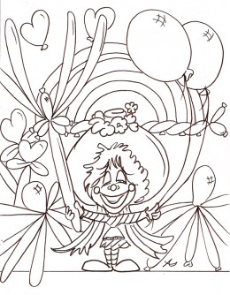 Circus Clown Kids Coloring Pages Free Colouring Pictures to Print - Crazy Cartoon Clown