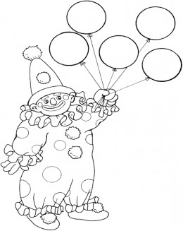 Circus Clown Kids Coloring Pages Free Colouring Pictures to Print - balloon clown
