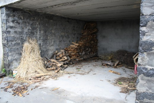 Wood storage area for winter