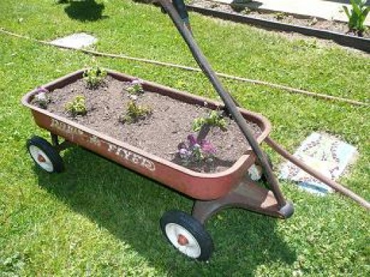 Improvised Wagon Planter