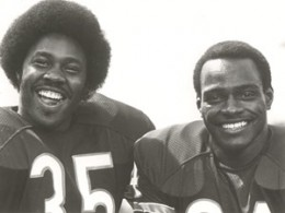 Longtime Bears backfield mates Roland Harper (left) and Walter Payton both arrived in the 1975 draft.
