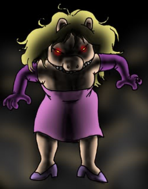 Save yourself! She is angry! LOL