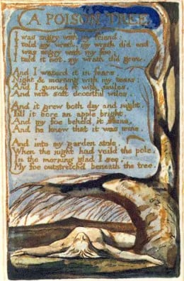 "Blake's plate of this poem from ""Songs of Experience"""