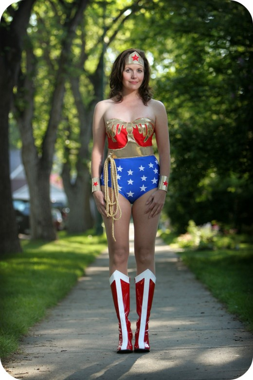 Mother-in-law made Wonder Woman costume.  Source: Flickr, The 10 cent designer