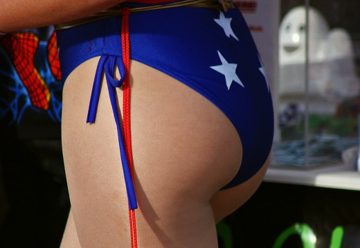 Wonder Woman booty.  Source: Flickr, cobalt123