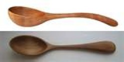 The ladle spoon has a deep bowl and the handle is scooped out.  Sometimes decoration was added.