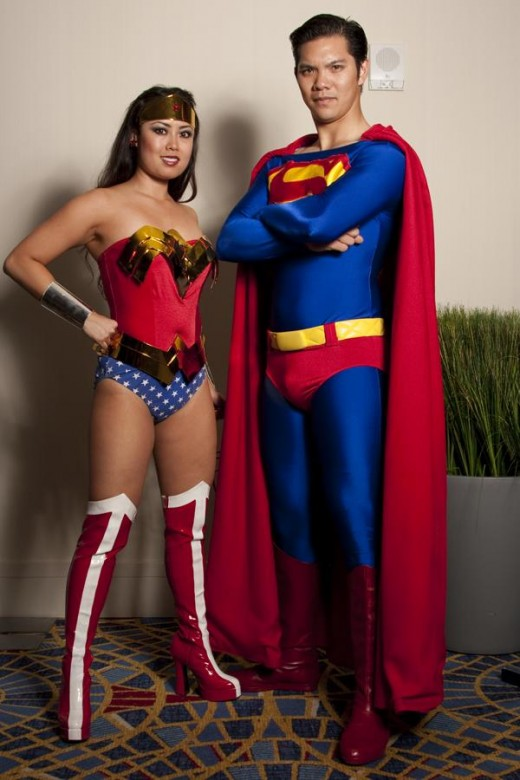 Wonder Woman and Superman.  Source: Flickr, Anna Fischer