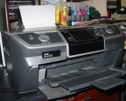 My Epson Stylus Photo R380 with continuous ink system attached