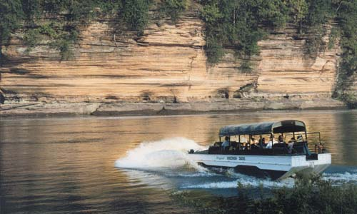 Tour the Wisconsin River on the famous Duck tours. Photo found on http://www.wisconsinducktours.com/photo.html