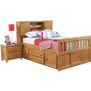 This is the captains bed I purchased for my oldest son.  It's comfortable and functional.