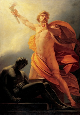 Heinrich Friedrich Fuger, Prometheus Brings Fire to Mankind, 1817