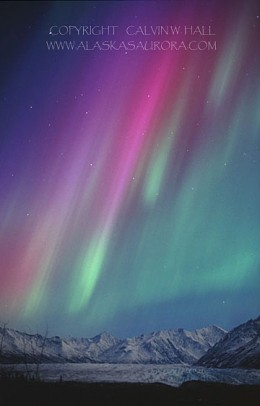 This multicolor aurora is a relatively rare sight.