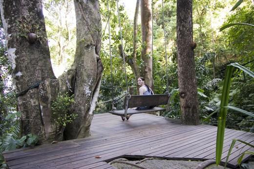 Relaxing in Tropical Spice Garden