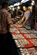 Traders displaying their exotic wares in Night Market