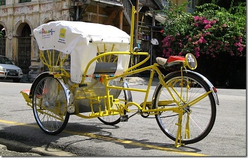 Best way to tour George Town World Heritage site is with a trishaw