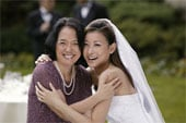 A mom and bride MUST enjoy themselves on the wedding day!