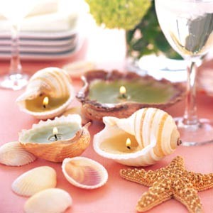 Make some candles like these fantastic sea shell candles.    Image source - http://www.coffsharbour.nsw.gov.au