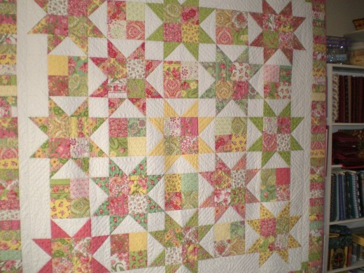Plan C, quilt designed by Carrie Nelson, pieced by Judy Adams, and quilted by Diane Tricka.