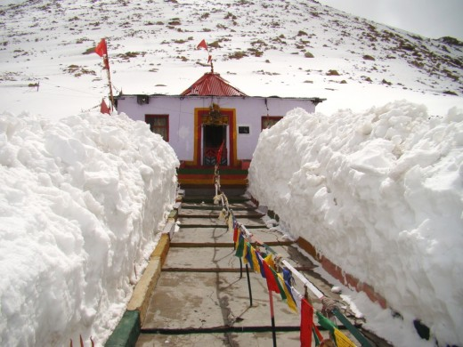 The temple of Chang La Baba, the Guardian of the mountain pass.