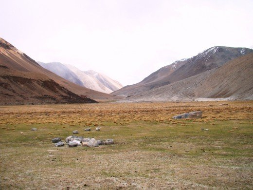 The road to Pangong Lake