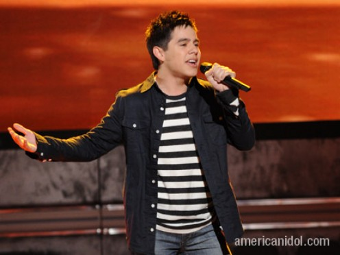 David Archuleta, singing his heart out to America!