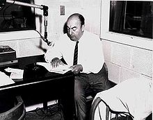 Neruda recording his poetry at the U.S. Library of Congress in 1966.