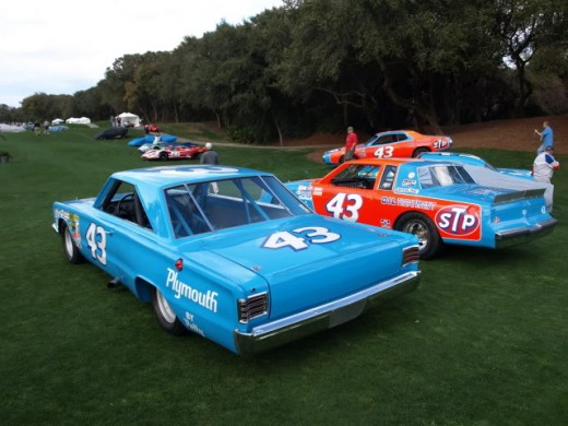 1967 Plymouth from Richard Petty Museum on display at Amelia Islands, Florida.  Source: Moparts.org