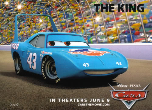 The King from Pixar's movie Cars voiced by Richard Petty.