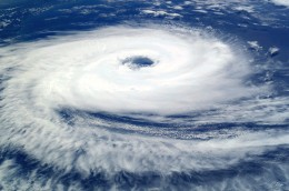 Taken from space, this picture of of hurricane Catrina shows the structure of a typical hurricane.