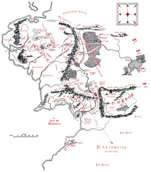 Tolkien's Map of Middle Earth