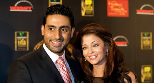 The loving pair- Aish with Abhishek