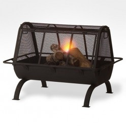 Fire pit covers keep debris and sparks from flying out of the pit.