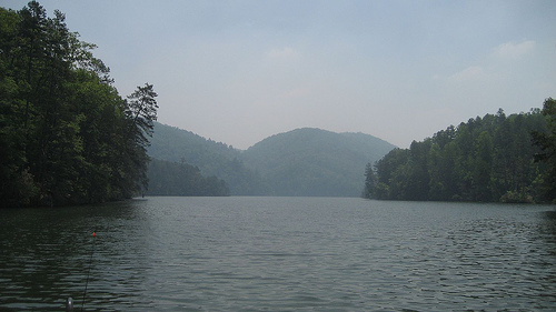 Lake Tugaloo, where the earliest Cherokee Villages were found (1450).