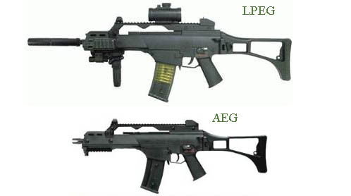 """The difference between these guns is rather subtle, yet calling the top one an """"AEG"""" would make you seem like a noob"""