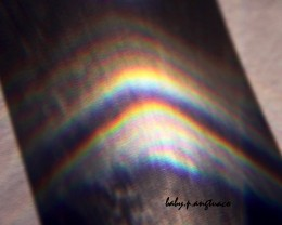 Rainbow from glass of water