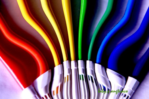 rainbow colored pens
