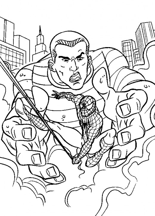 Spider-Man Shattered Dimensions Kids Coloring Pages Free Colouring Pictures