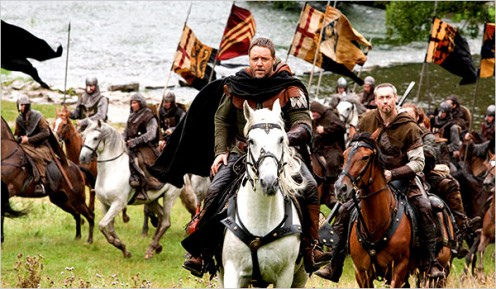 Russell Crowe stars as Robin Hood in the new adaptation of the classic tale, directed by Ridley Scott.