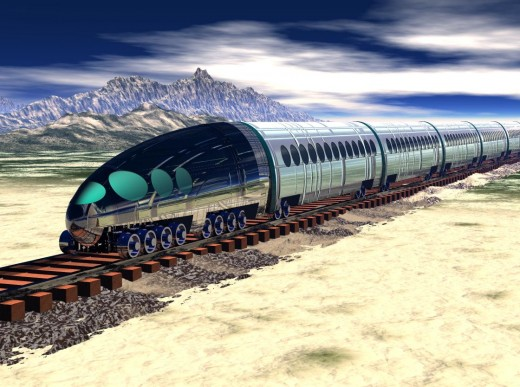 Exterior View Of Human-Powered Train