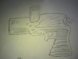 Draw futuristic guns step by step and just have fun.