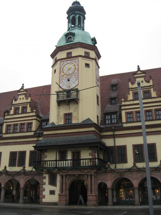 The old city hall of Leipzig