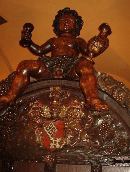 The Bacchus statue inside the Bremen Ratskeller.