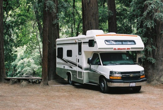 Families or large groups might want to consider renting an RV.  Photo: http://www.fernwoodbigsur.com